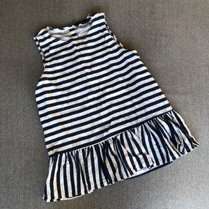 Zara striped ruffle top